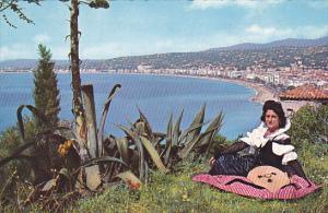 France Nice Vue d'ensemble sur la Baie des Anges et la Promenade des Anglais