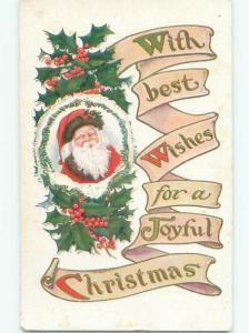Divided-Back SANTA CLAUS CHRISTMAS SCENE Great Postcard W8306