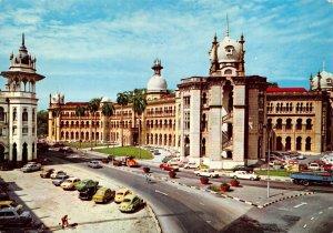 Postcard, Railway Train Station, Kuala Lumpur, Malaysia, Asia, Classic Cars 74Z