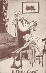 Sexy Woman Gets Corn on Foot - Pervert Guy Mutoscope Exhibit Card