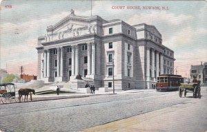 NEWARK, New Jersey; Court House, Street Car, PU-1908