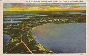 Florida Winter Haven Airplane View Of Winter Haven City Of A Hundred Lakes 1953