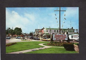 MA Hyannis Village Stores Martin's Downtown Sign Cape Cod Massachusetts Postcard