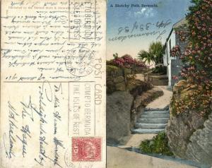 bermuda, A Sketchy Path (1931) Stamp