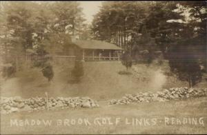 Reading MA Meadow Brook Golf Links c1910 Real Photo Postcard
