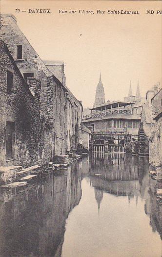 Vue Sur l'Aure, Rue Saint-Laurent, Bayeux (Calvados), France, 1900-1910s