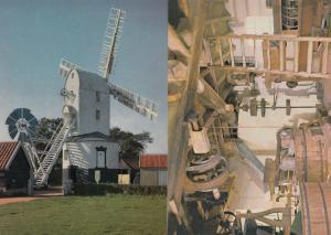 Saxstead Mill Windmill Roundhouse 2x Postcard s