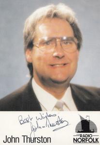 John Thurston 1980s Radio Norfolk DJ Hand Signed Photo