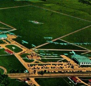 Bowman Field Aerial Municipal Airport Louisville Kentucky KY 1933 Vtg Postcard