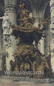 La Chaire de Verite de Sainte Gudule Bruxelles, Belgium Writing On Back