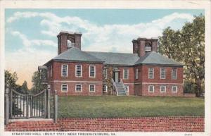 Virginia Fredericksburg Stratford Hall Built 1727 Curteich