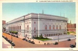 Ohio Cleveland Public Auditorium Curteich