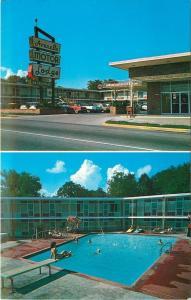 Hot Springs AR~Avanelle Motor Lodge~Bathing Beauty on Diving Board 1960s PC