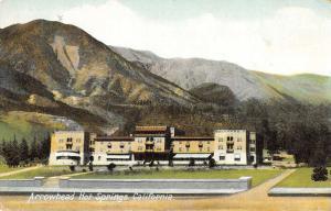 San Bernardino California outside view Arrowhead Hot Springs antique pc Z39957