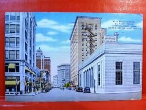 Postcard TX El Paso 2170 Mills Street Looking West