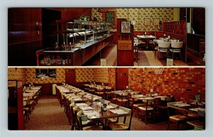 Cheyenne WY- Wyoming, Peterson's Buffett, Dining Room, Chrome Postcard