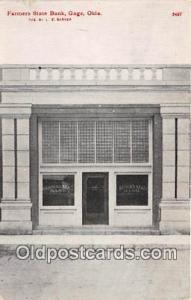 Farmers State Bank Gage, Oklahoma, USA Postcard Post Card Gage, Oklahoma, USA...
