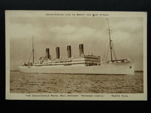 Union Castle Line WINDSOR CASTLE ROYAL MAIL STEAMER c1930s Postcard