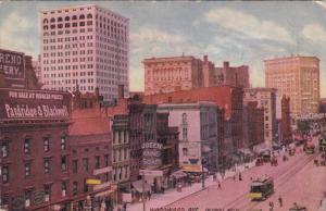 DETROIT, Michigan, PU-1911; Woodward Avenue, Cable Cars