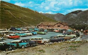 Wyoming~Fall River Pass Museum~Huge Parking Lot Filled: NICE 1950s Cars~Woody