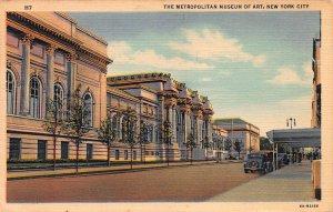 Metropolitan Museum of Art, New York, N.Y.,  Early Linen Postcard, Used in 1943