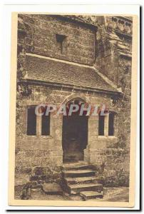 Locronan Old Postcard Church 15th Porte d & # 39entree north coast