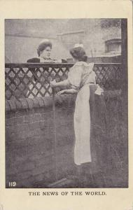 The News of the World, Two Maids gossiping over a fence, PU-1910