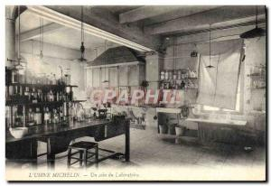 Postcard Old Automobile Factory Michelin Clermont Ferrand A corner of the lab...