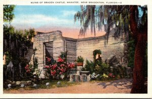Florida Bradenton Ruins Of Braden Castle 1939