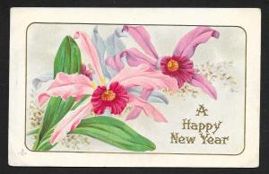 A Happy New Year Flowers Used c1910s