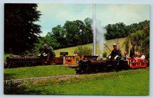 Postcard DE Yorklyn Auburn Valley Miniature Railroad Ride On Train c1960s M04