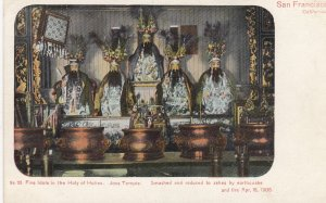 Chinese Joss Temple , SAN FRANCISCO , California , 1906