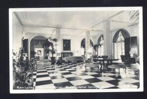 RPPC WHITE SULPHUR SPRINGS WEST VIRGINIA HOTEL GREENBRIER REAL PHOTO POSTCARD