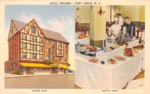 Hotel Minisink Port Jervis, New York Postcard