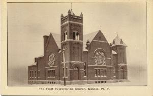 First Presbyaterian Church - Dundee NY, New York - pm 1916 - DB