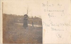 Warren Pennsylvania Girl by River Real Photo Antique Postcard J50514