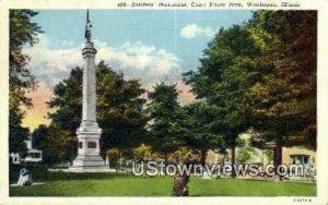 Soldier's Monument, Court House Park - Waukegan, Illinois IL