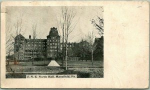 Mansfield, Pennsylvania Postcard S.N.S. North Hall State Normal School c1900s