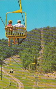Tennessee Gatlinburg Double Chair Lift At Gatlinburg Ski Resort