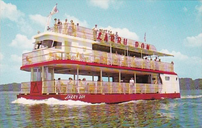 Larry Don Cruise Boat Casino Boat Dock Lake Ozark Missouri / HipPostcard
