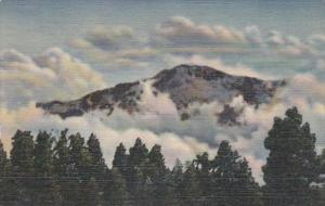 Colorado Pikes Peak Among The Clouds Curteich