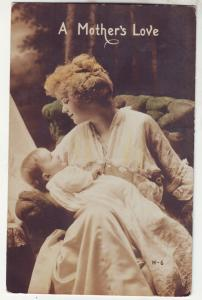 P616 JLs 1917 dated a mother and child a mothers love