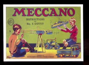 ad4084 - Meccano - Boys - Instructions for No.6 Outfit - Modern Advert postcard