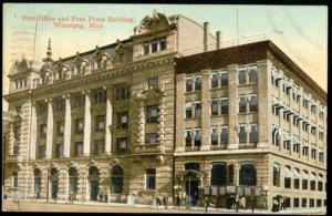 canada, WINNIPEG, Manitoba, Post Office, Free Press (1910)