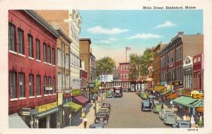 Biddeford Maine~Main Street~A Scholte Cigars~Parisienne Shops~1946 Linen Pc