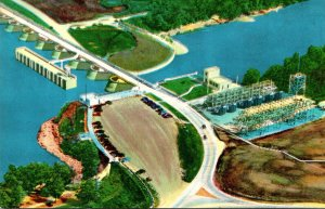 Oklahoma Aerial View Of The Approach To Grand River Dam