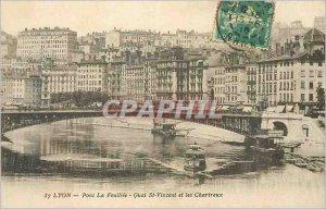 Postcard Old Bridge The Feuillee Lyon Quai St Vincent and the Carthusian Charter