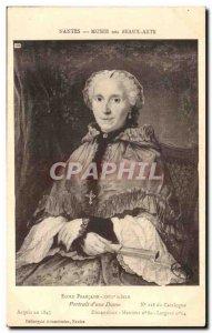 Old Postcard Musee des Beaux Arts Nantes Ecole Francaise XVIII th century Por...