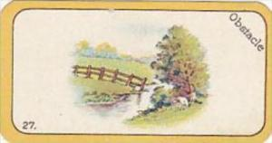 Carreras Cigarette Card Greyhound Racing Game No 27 Obstacle