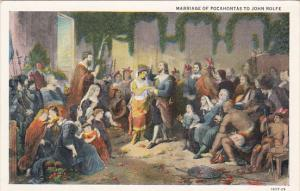Marriage Of Pocahontas To John Rolfe Jamestown Church April 1613 Curteich